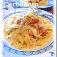 Easy Rich Pasta Carbonara with Milk and Whole Egg
