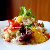 Quinoa with Oranges, Walnuts & Dried Fruit