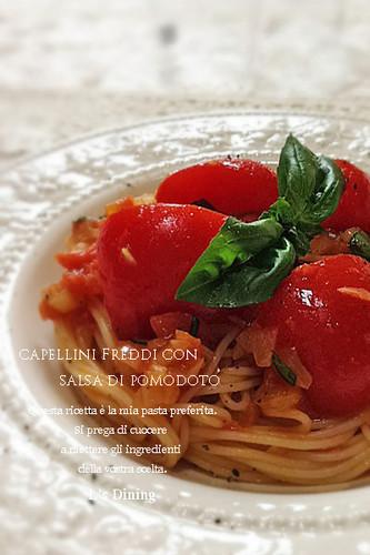 Chilled Pomodoro Chilled Tomato Sauce Pasta