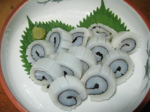 Fresh Squid Naruto-Style Rolls