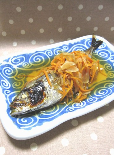 Easy and Healthy Oil-free Grilled Horse Mackerel with Nanban Sauce