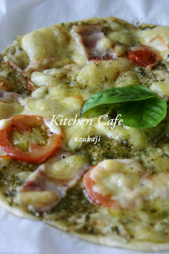 Crispy Pizza with Basil Sauce