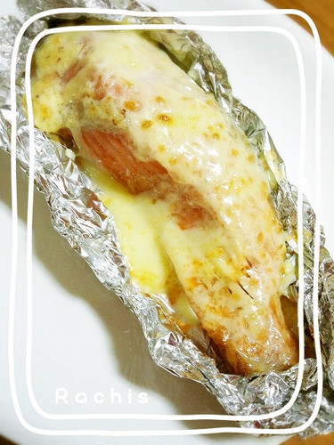 The Mayonnaise is so Tasty! Foil baked Salmon