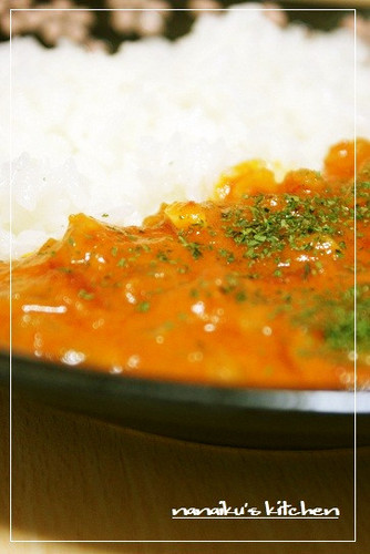 Delicious Prawns in Tomato Cream with Rice