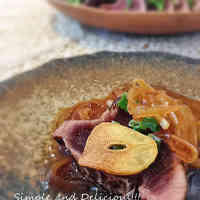 Simple and Delicious! Seared Bonito and Beef