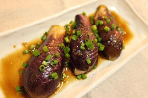 Eggplant with Pork - Easily Made in the Microwave