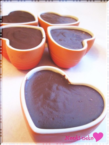 Non-Steamed and Non-Baked Rich Chocolate Custard Pudding