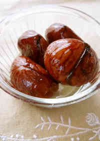 Simmered Chestnuts (for Beginners)