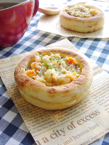 Shrimp & Mushroom English Muffin Quiche