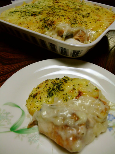 Autumn Salmon White Sauce Gratin