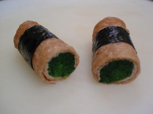 Spinach Inari Rolls