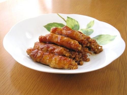Salty and Sweet Teriyaki Pork-Wrapped Enoki Mushrooms