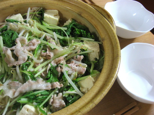 Healthy Vegetable and Pork Steamed Hot Pot