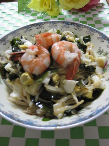 Bean Sprout and Wakame Seaweed Salad