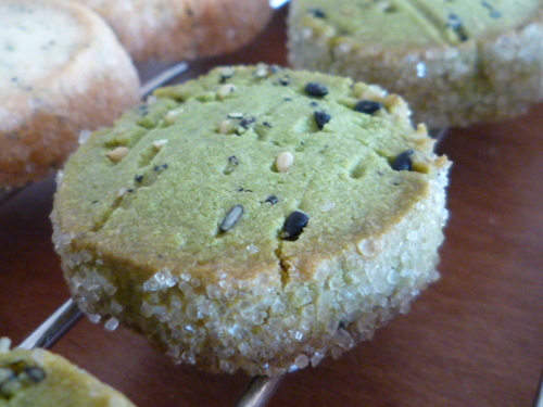 Simple Sesame-Scented Matcha Shortbread