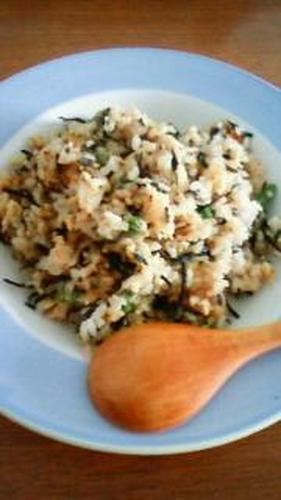 Full of Nutrition Hijiki Fried Rice Flavoured with Miso