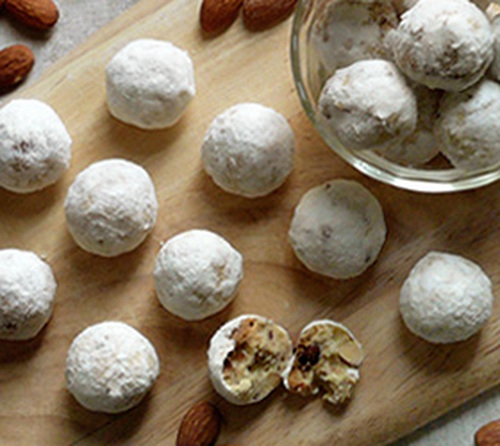 Crunchy Nuts Almond Snowball Cookies