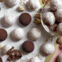 Crispy Chocolate Snowballs