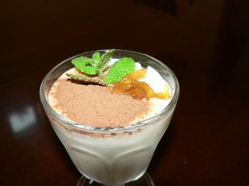 Yuzu and Chocolate Yogurt
