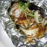 Salmon Cooked In Foil With Creamy Miso and Cheese