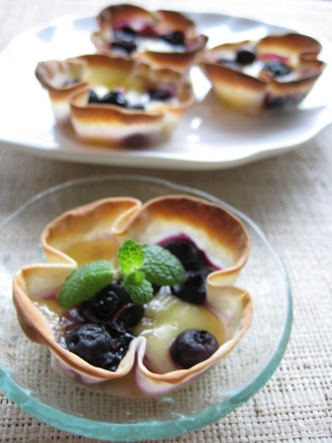 Cheese and Blueberry Honey Cups