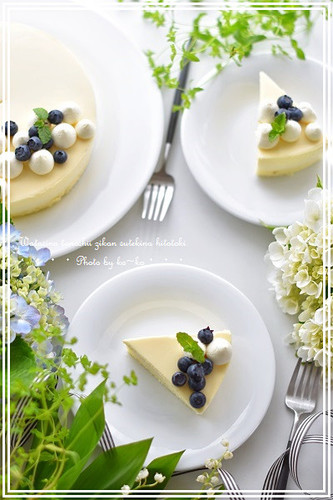 "No-Bake ""Rare"" Cheesecake with White Chocolate Mousse"