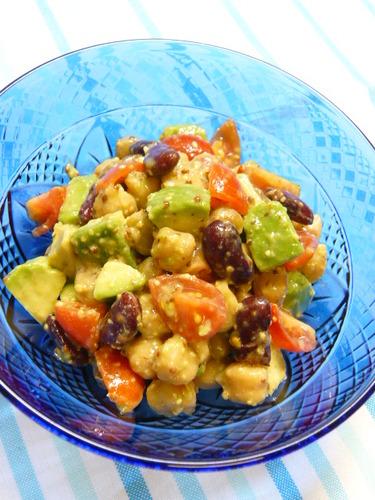 Avocado and Mixed Bean Salad
