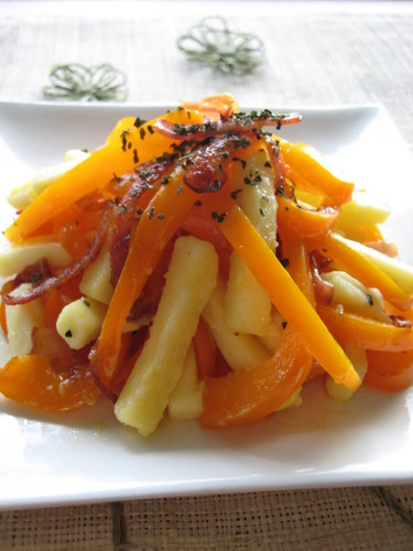 Yellow Pepper and Bacon Salad