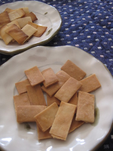 Non-Oil Ginger Rice Crackers made with Rice Flour
