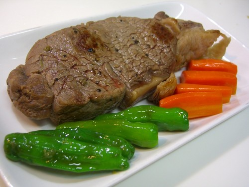 Tender Beef Steak Cooked in a Rice Cooker
