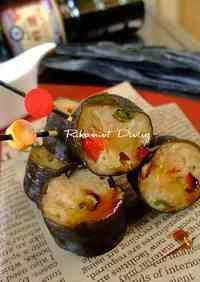 Sweet and Spicy Tsukune Kombu Maki Rolls