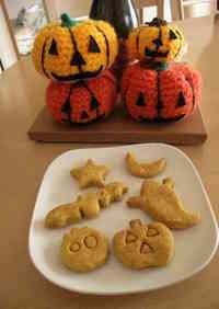 For Halloween! Kabocha Okara Cookies