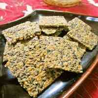Roasted Sesame Crackers Made With Thin Toasted Barley Flour