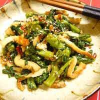 Chrysanthemum Greens and Chikuwa Fishstick Kinpira