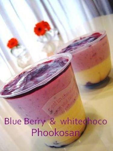 Blueberry and White Chocolate Mousse