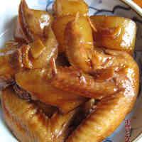 Easy Sweet-Salty Teriyaki Simmered Chicken Wings and Daikon Radish
