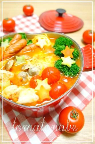 Italian Flavored Tomato Nabe (Hotpot)