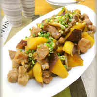 Sweet-Spicy Sweet Potato and Pork