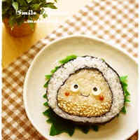Mr. Chestnut Seaweed Maki for Character Bentos