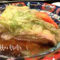 Steamed Layered Chinese Cabbage and Pork Belly