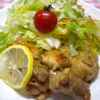 Pan-fried Chicken Thigh with Honey and Lemon Juice