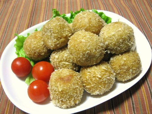 Chewy Taro Root and Cheese Croquettes