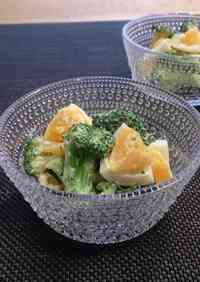 Broccoli and Egg Salad with Oyster Sauce and Mayonnaise