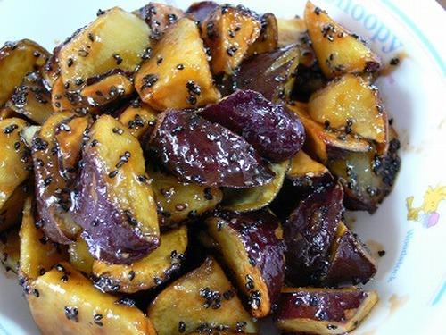 Daigaku Imo (Deep-Fried & Caramelized Sweet Potatoes) in a Rice Cooker