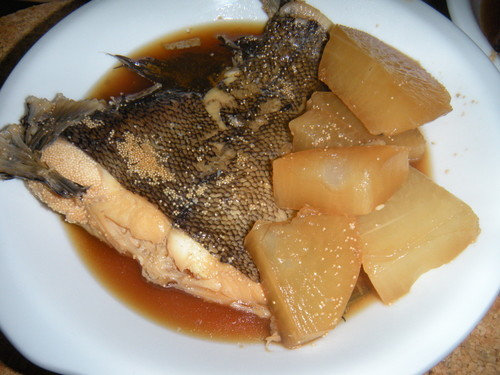 Amazing!! Super Tender Soy Sauce Flavored Daikon Radish & Flounder
