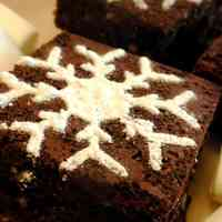Snow Crystal Chocolate Brownies