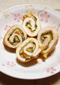 Chicken Tender Rolls With Umeboshi, Shiso and Cheese!