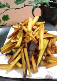 Deep-Fried Salty Sweet Potato Sticks