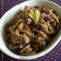 Simmered Beef and Enoki Mushrooms