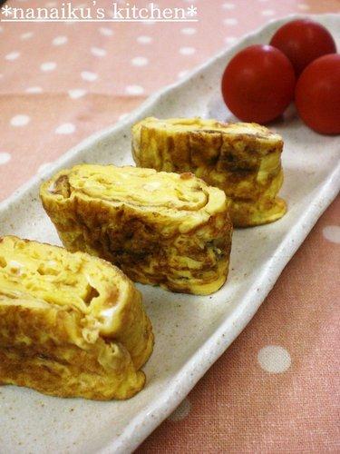 For Bentos♡Umeboshi Mayonnaise Tamagoyaki (Rolled Omelettes)